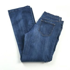 GAP Long and Lean Dark Flare Jeans Sz 10 Long